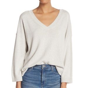 Madewell Double-V Pullover Cream Sweater